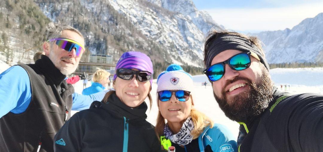 Trening pred odhodom v Val d'Arly